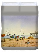 Capitola - California Sketchbook Project  Duvet Cover