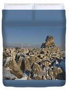 Cappadocia In Winter Duvet Cover