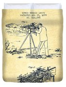 Capps Machine Gun Patent Drawing From 1899 - Vintage Duvet Cover