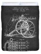 Capps Machine Gun Patent Drawing From 1902 - Dark Duvet Cover