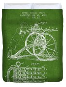 Capps Machine Gun Patent Drawing From 1902 - Green Duvet Cover