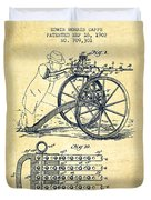 Capps Machine Gun Patent Drawing From 1902 - Vintage Duvet Cover