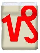 Capricorn Zodiac Sign Red Duvet Cover