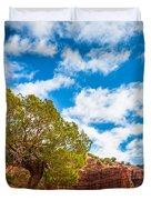 Caprock Canyon Tree Duvet Cover