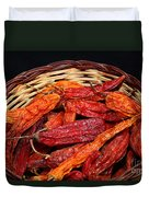 Capsicum Baccatum Chilis Duvet Cover