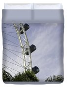 Capsules And Structure Of The Singapore Flyer Along With The Spokes Duvet Cover