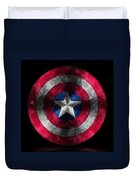 Captain America Shield Duvet Cover