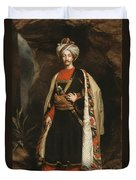 Captain Colin Mackenzie In His Afghan Duvet Cover by James Sant
