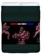 Captain Renegade Super Hero Combating Crime Duvet Cover