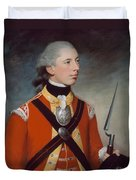 Captain Thomas Hewitt, 10th Regiment Duvet Cover by William Tate