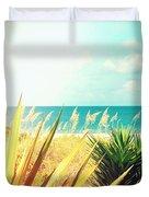 Captiva Island Photography Light Leaks Duvet Cover