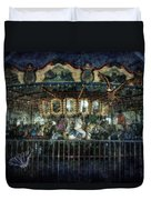 Captive On The Carousel Of Time Duvet Cover
