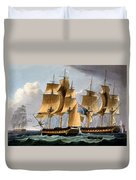 Capture Of The Furie And Waakzaamheid Duvet Cover