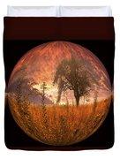 Captured Flame Duvet Cover by Debra and Dave Vanderlaan