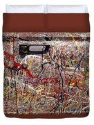 Car Door Splattered Paint.tif Duvet Cover