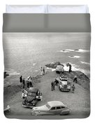 Car Over Edge On Highway One  Big Sur  California    March 27 1947 Duvet Cover