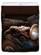 Car - Steamer - Snake Charmer  Duvet Cover by Mike Savad