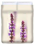 Caradonna Salvia Flowers Duvet Cover