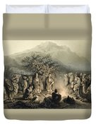Caravan Of Armenian Merchants Duvet Cover