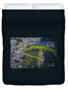 Carcabuey Castle From The Air Duvet Cover