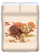 Cardamom Pods And Cloves Duvet Cover