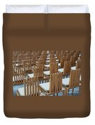 Cardboard Cathedral Chairs Duvet Cover