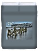 Cardiff Bay Old Jetty Supports Duvet Cover