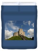 Cardiff Castle Keep Duvet Cover
