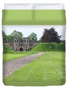 Cardiff Castle Wall 8383 Duvet Cover