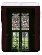 Cardiff Castle Window 8355 Duvet Cover