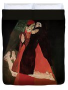 Cardinal And Nun Duvet Cover