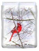 Cardinal Christmas-2014 Duvet Cover