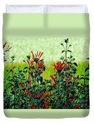 Cardinal Flowers Duvet Cover