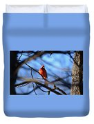 Cardinal In The Midst Duvet Cover