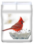 Cardinal In Winter Duvet Cover