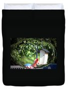Cardinal Tail Wide Landing Digital Art Duvet Cover