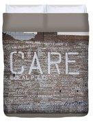 Care In Detroit  Duvet Cover
