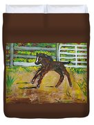 Carefree Pony Duvet Cover