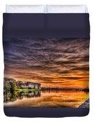 Carew Castle Sunset 2 Duvet Cover