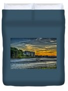 Carew Castle Sunset 3 Duvet Cover