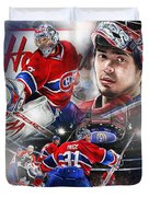 Carey Price Duvet Cover by Mike Oulton