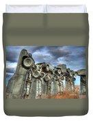 Carhenge Automobile Art Duvet Cover