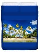 Caribbean Beach Shack Duvet Cover