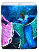 Caribbean Folk Dancers Duvet Cover