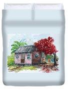 Caribbean House Duvet Cover