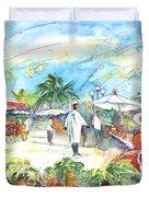 Caribbean Market Duvet Cover