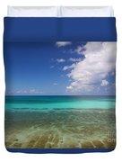 Caribbean Ocean Panorama Duvet Cover