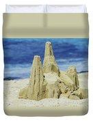 Caribbean Sand Castle  Duvet Cover