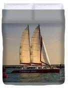 Caribbean Spirit Sails Miami Duvet Cover