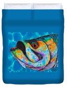 Caribbean Tarpon Fish Duvet Cover